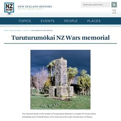 Turuturumōkai NZ Wars memorial