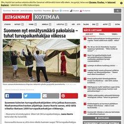 Suomeen nyt ennätysmäärä pakolaisia – tuhat turvapaikanhakijaa viikossa