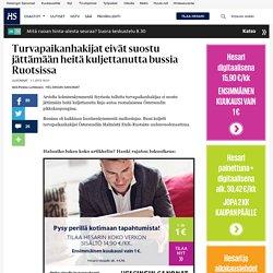 Turvapaikanhakijat eivät suostu jättämään heitä kuljettanutta bussia Ruotsissa - Ruotsi