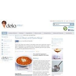 Tuscan Bean and Pasta Soup - Vegetarian food