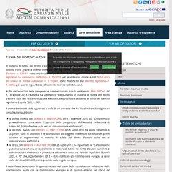 Tutela del diritto d'autore - AGCOM