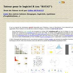 """Tuteur pour le logiciel R (ou """"RSTAT"""")"""