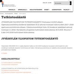Tutkintosääntö — Suomi