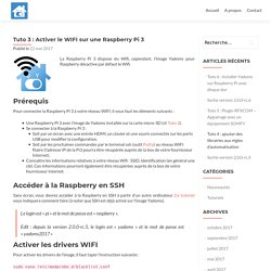 Tuto 3 : Activer le WIFI sur une Raspberry Pi 3 – Yadoms