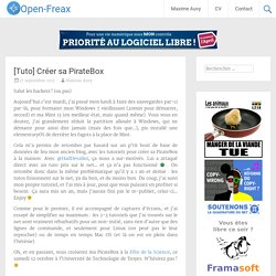 [Tuto] Créer sa PirateBox - Open-Freax
