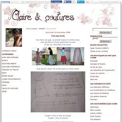 Tuto jupe facile - Claire & Coutures