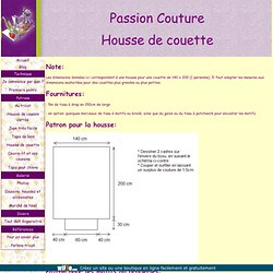 tuto couture housse de couette. Black Bedroom Furniture Sets. Home Design Ideas