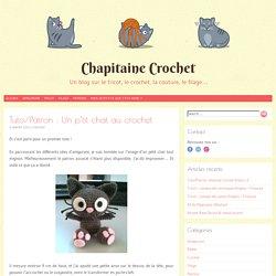 Tuto/Patron : Un p'tit chat au crochet - Chapitaine Crochet