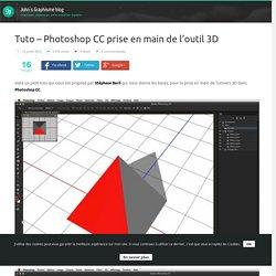 Tuto - Photoshop CC prise en main de l'outil 3D