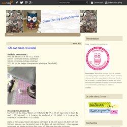 Tuto sac cabas réversible - Créations by-iaoraNanou