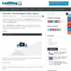 Tuto vidéo – Pour développer en Ajax – jQuery