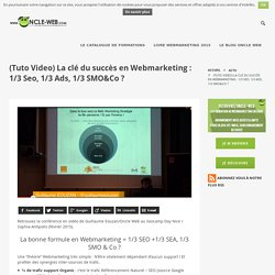 (Tuto Video) La clé du succès en Webmarketing : 1/3 Seo, 1/3 Ads, 1/3 SMO&Co ?