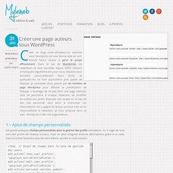 Tuto wordpress créer une page auteurs