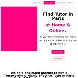 Find Tutor in Paris