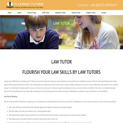 Law Tutor, Private Law Tuition, Law Tutor London