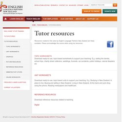 Tutor resources
