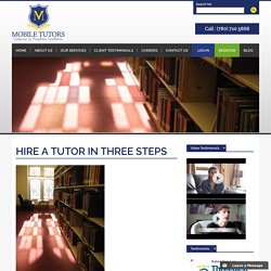 Hire Tutor In Three Steps