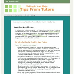 Tutor Tips: Creative Writing