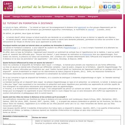 learn-on-line.be - Le tutorat en formation à distance