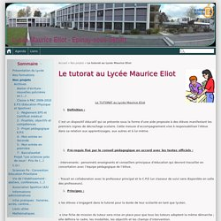 Le tutorat au Lycée Maurice Eliot - Lycée Maurice Eliot - Epinay-sous-Sénart