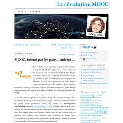 MOOC, tutorat par les pairs, tandems …