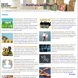 Tutoria - Materials educatius