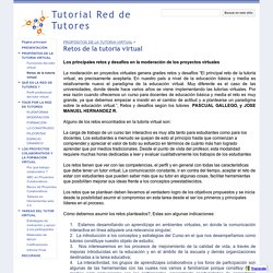 Retos de la tutoria virtual - Tutorial Red de Tutores