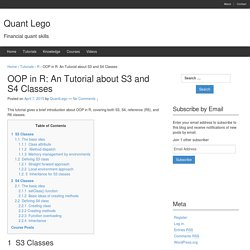 OOP in R: An Tutorial about S3 and S4 Classes - Quant Lego