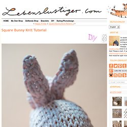 Square Bunny Knit Tutorial - Lebenslustiger.com