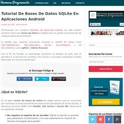 Tutorial De Bases De Datos SQLite En Aplicaciones Android