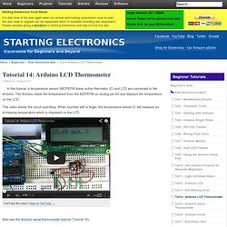 Tutorial 14: Arduino LCD Thermometer