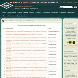 Tutorial básico programador web: HTML desde cero