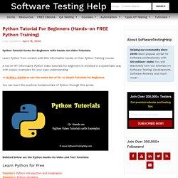 Python Tutorial For Beginners (Hands-on FREE Python Training)