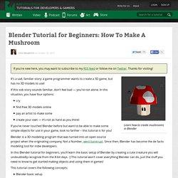 Blender Tutorial for Beginners: How To Make A Mushroom