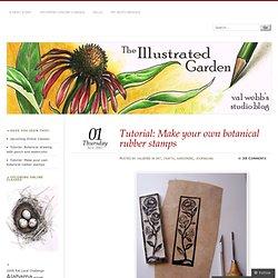 Tutoriel: Faites vos propres timbres en caoutchouc botaniques
