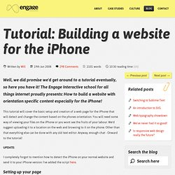 How to build a website for the iphone with orientation detection | Engage Interactive Blog | Web design Harrogate