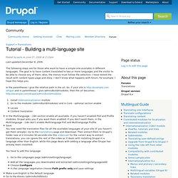 Tutorial - Building a multi-language site