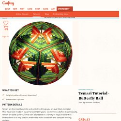Temari Tutorial - Butterfly Ball