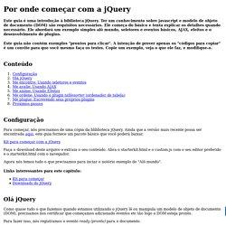Tutorial - Por onde começar com a jQuery - 2km interativa!