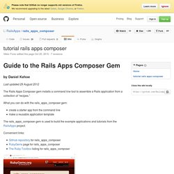 tutorial rails apps composer · RailsApps/rails_apps_composer Wiki