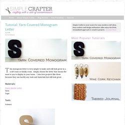 Tutorial: Yarn Covered Monogram Letter