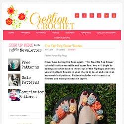Free Flip Flop Flower Tutorial - Cre8tion Crochet