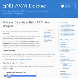 Tutorial: Create a Hello ARM test project