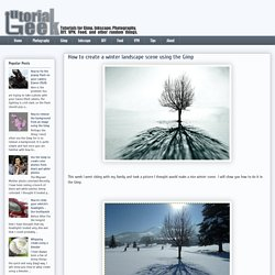 Tutorial Geek: How to create a winter landscape scene using the Gimp