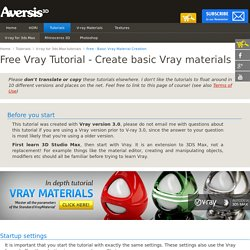 Vray for 3d Studio Max Tutorials | Vray Basic material settings