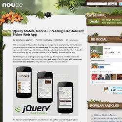 jQuery Mobile Tutorial: Creating a Restaurant Picker Web App