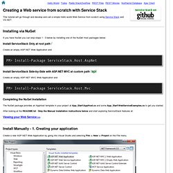 Tutorial - Creating a Hello World ServiceStack Web Service