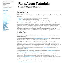 Rails Tutorial · Devise with RSpec and Cucumber