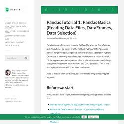 Pandas Tutorial 1: Pandas Basics (read_csv, DataFrame, Data Selection)