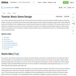 Tutorial: Basic Game Design · LaurentGomila/SFML Wiki